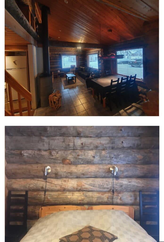 Log cabin downstairs -  bedroom